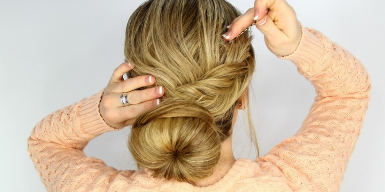 fishtail-wrapped-bun-LatestHairstyles.com-MSM-Miami Shoot Magazine