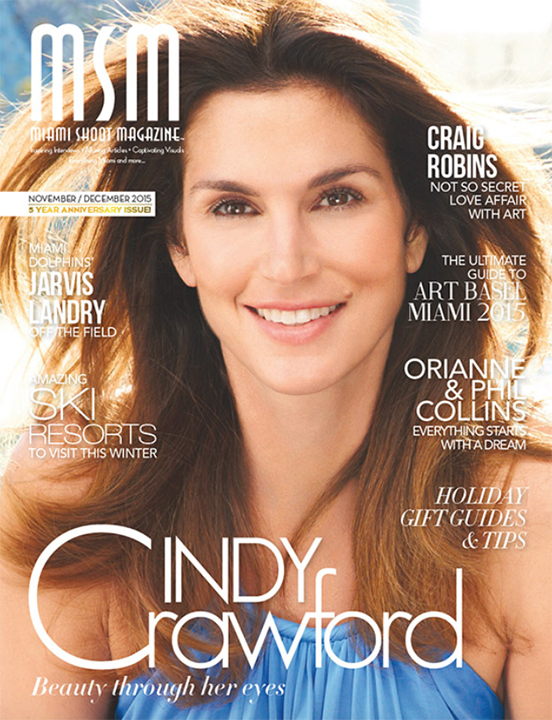 MSM Miami Shoot Magazine Cover-Cindy Crawford