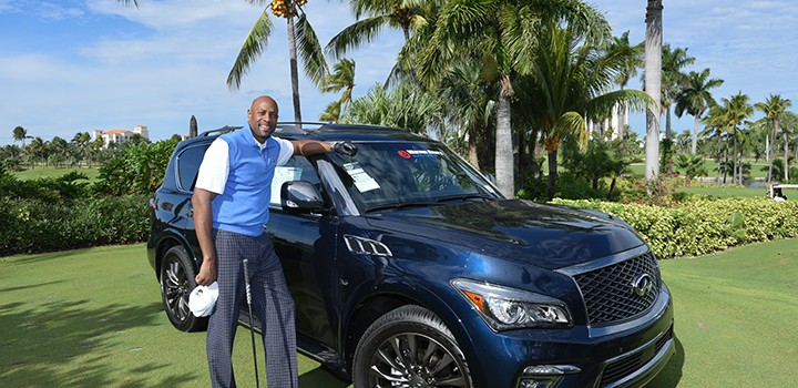 NBA Hall of Famer Alonzo Mourning with Warren Henry Auto Vehicle 1_small-Zo's Hall of Fame Golf Groove-Turnberry Isle Golf Club