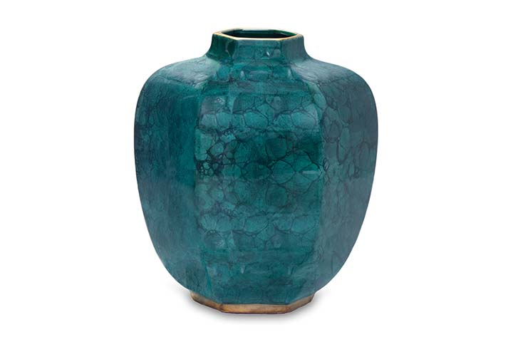 MSM Miami Shoot Magazine-AERIN Geo Malahite GreenGold Vase