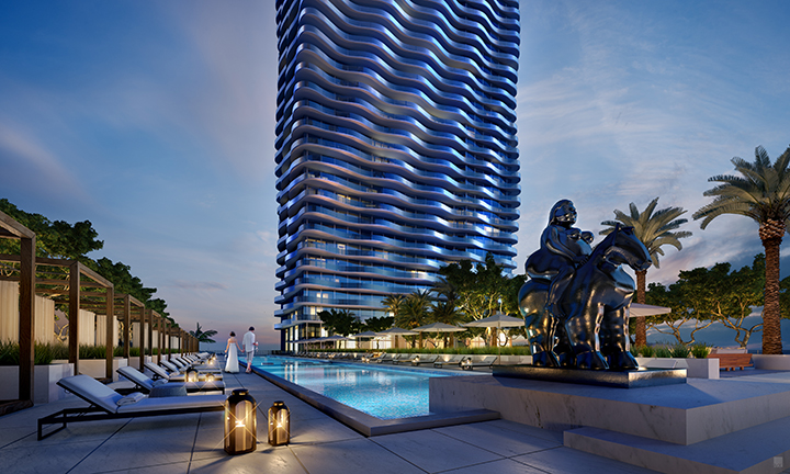 MSM Miami Shoot Magazine-Auberge Residences and Spa-Downtown-Living-Related-1400Biscayne-04-Pool_Dusk-01