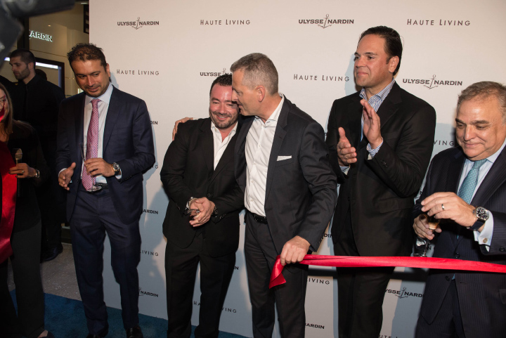 MSM Miami Shoot Magazine-Ulysse Nardin Ribbon Cutting 2